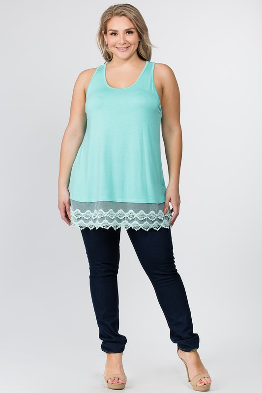 Long Lines Lace Tank