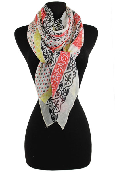 Floral Tribal Soft Scarf