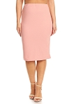 Rose Textured Pencil Skirt