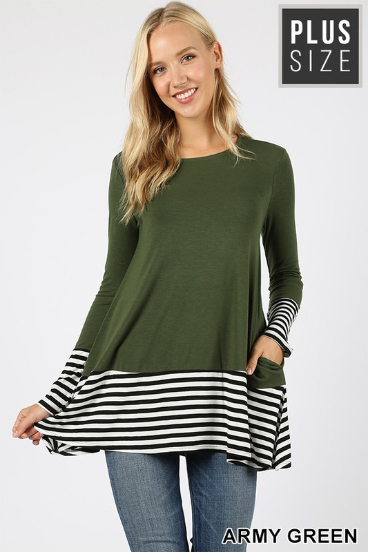 Color Block and Stripes Tunic