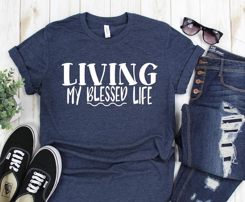 Living My Blessed Life Tee