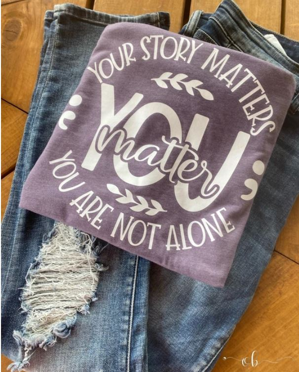 Your Story Matters Tee White Ink