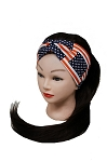 American Flag Printed Boho Chic Twister Turban Front Headband