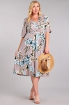 Perfect Flowers Faux Wrap Dress