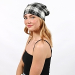 Plaid Pony Tail Beanie