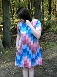 Abstract Print Tunic/Dress