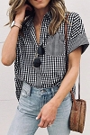 Trish Gingham Button Down Shirt
