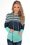 Color Block and Stripes Hoodie