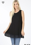 Long Lines Layering Lace Tank