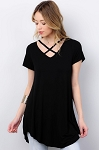 Criss Cross V-Neck Tunic