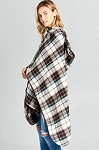 Plaid Cape with Hood