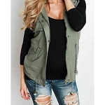 Adele Aztec Back Hooded Vest
