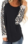 Adele Leopard Sleeve Top