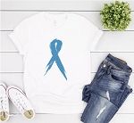 Blue Awareness Ribbon Tee