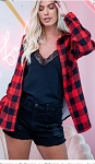 Buffalo Plaid Lined Button Up Flannel