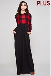 Buffalo Plaid Maxi Dress with Pockets