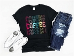 Coffee Coffee Coffee Rainbow Tee
