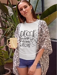 Decaf Only Works Tee