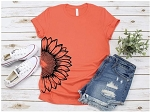 Half Sunflower Tee