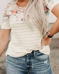 Annie Floral and Stripe Top