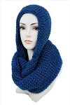 Knitted Hooded Scarf