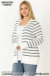 All Stripes Snap Cardigan