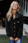 Josie Sherpa Button Up Jacket