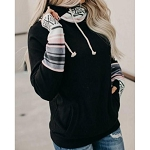 Meg Aztec Zipper Hoodie with Thump Holes