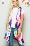 Multi Color Waterfall Vest