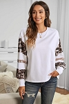 Nona Sequin Patchwork Crew Neck Top