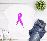 Pink Awareness Ribbon Tee