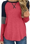 Raglan in Pink and Stripes Top
