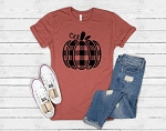 Plaid Pumpkin Tee