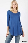 Side Button Top with 3/4 Sleeves