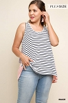 Stripes and Layers Color Block Tank