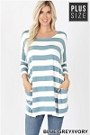 Wide Stripes All Day Tunic with Pockets