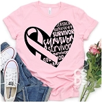 Cancer Survivor Heart Tee