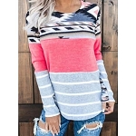 Taryn Tribal Color Block Top