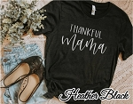 Thankful Mama Metallic Silver Tee