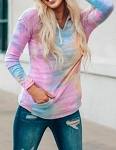 Hanna Tie Dyed Pocket Pullover Hoodie
