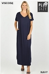 Maxi Dress with Side Slits and Pockets