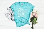 Boss Mom Softball Wife Tee