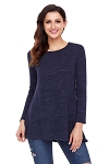 Button Side Long Sleeve Tunic - Plus Size