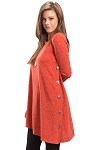 Button Side Long Sleeve Tunic