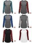 Plaid Raglan Long Sleeve
