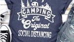 Camping The Original Social Distancing Tee