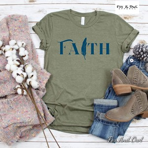 Faith Feather Tee